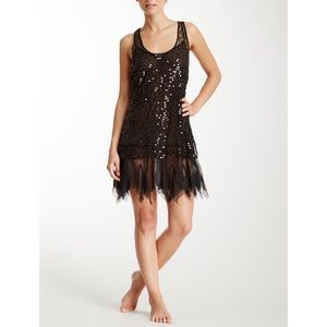 Free People intimately shiny sequin mesh dress